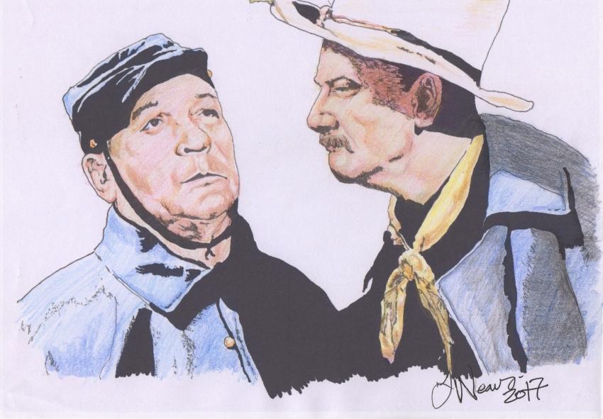 Victor McLaglen, John Wayne by weaverjohn